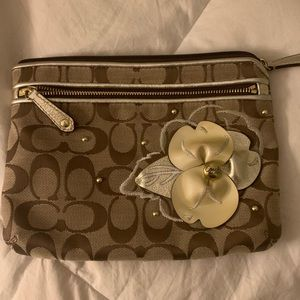 Coach zipper bag. Very clean-Great for traveling!